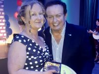 Shirley Doody with MC for the evening Marty Morrissey.