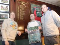 Darren O'Sullivan, Fergal O'Sullivan and Mark O'Sullivan looking forward to Cheltenham week at The Castle Bar. Photo by Dermot Crean
