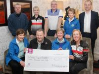 At the presentation of a cheque for €3,000 from Chain Gang Cycling Club to Kerry Hospice Foundation were, seated from left; Bridie O'Connor, Kerry Hospice; John Murray of Chain Gang; Maura Sullivan of Kerry Hospice and Fiona Ryle of Chain Gang. Back from left; Declan Murphy,  Avril Hewitt and David Elton of the Chain Gang, Ita Behan of Kerry Hospice and Chris Murray of the Chain Gang. Photo by Dermot Crean