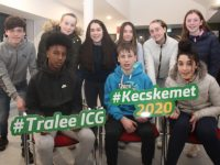 Some of the Tralee team heading off to Kecskemet in Hungary this summer to take part in the Children's International Games. In front; Mohamed Abdalla, Cathal Murphy and Zara Ozaslan. Back from left; Samuel Regan,  Cara Gannon, Nicole Walker, Melissa Aherne, Rachel Nealon and Lucy O'Connor.  Photo by Dermot Crean