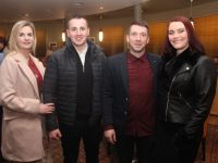 Vicky Keane, Francis Keane, JP McElligott and Lorraine McElligott at the Crotta O'Neill's GAA Club Social on Friday night at Ballyroe Heights Hotel. Photo by Dermot Crean