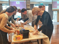 Kerry Convention Bureau members in The Rose Hotel last week making sandwiches for Tralee Soup Kitchen.
