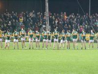 Kerry line up for the national anthem. Photo by Dermot Crean