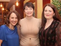 Mary Donovan (centre) with fellow nurses Grainne Coffey and Margaret Crowley, at her going away party on Friday night at Chez Christophe Restaurant. Photo by Dermot Crean
