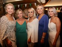 Claire Shaughnessy, Caroline Dillane, Kate Sheehy, Emma Condon and Marguerite Maunsell at the Na Gaeil GAA Social at The Meadowlands Hotel on Saturday night. Photo by Dermot Crean