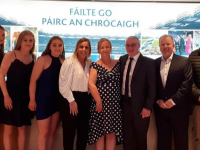 Aoife Doody, Anú Hayes,Lauren Doody, Tricia Moran, Shirley Doody, Adrian Doody, Con O' Connor and John Ryle pictured at Croke Park last Friday night at the LGFA National Volunteers Awards Night.