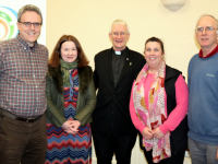 Members of the Diocesan Pastoral Council Shane O'Donoghue, Eileen O'Mahony, Bishop Ray Browne, Jacinta O'Shea and Fr Ger Godley.
