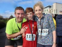 John, Jack and Caroline Collins at the 10 Miler/5k race on Sunday morning. Photo by Dermot Crean