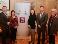 Les Browska of The International Hotel, Sinead Kirby, AIB, Oonagh Harrington, AIB, Tomás Griffin, AIB and Danny Leane of Annbury's at the Insights and Marketing Trends Event at Ballygarry House Hotel on Monday night. Photo by Dermot Crean