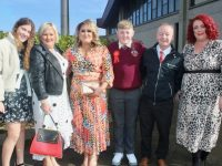 Holy Family NS pupil Rowhan Healy with Laura Magrana, Nuala Carey, Sonia Carey, Matthew Healy and Caitriona Locke on Confirmation Day at Our Lady and St Brendan's Church on Friday. Photo by Dermot Crean