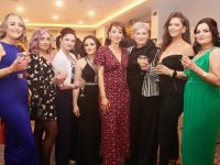 Tara Johnston, Christina Hurley, Emma Bolgar, Valla Rogojna, Maureen McCarthy, Frances McCarthy, Erica Tynan and Rachel O'Mahony of Brush N Blush at the Connect Kerry Hair and Beauty Awards at The Rose Hotel on Sunday afternoon. Photo by Dermot Crean