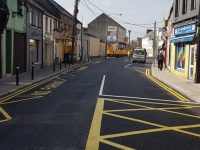 Road resurfacing works at Pembroke Street.