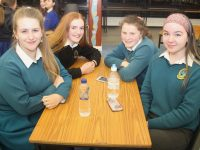 The winning team from Mercy Mounthawk, Aideen Lynch, Grainne  Leahy, Caoilinn O'Brien and Róisín Reidy at the History Teachers Association Of Ireland Kerry table quiz at Presentation Secondary School on Tuesday night. Photo by Dermot Crean