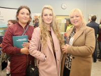 Emily O'Doherty, Shannon O'Sullivan and Jennifer O'Sullivan at the Kerry College Apprenticeship Information Evening at the Monavalley Campus on Wednesday evening. Photo by Dermot Crean