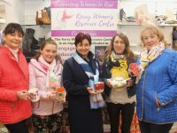 Carole Dooley, Jules O'Sullivan, Rita O'Sullivan Crean, Eileen Whelan and Marian Fitzgerald launching the Coffee/Fashion Morning in aid of Kerry Women's Resource Centre which takes place in Paco next  Friday. Photo by Dermot Crean