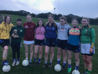 Sophie Hassett, Leila Halloran, Aoibhín O' Connor MacCarthy, Sadhbh Horgan, Ella O' Connor, Jasmine O' Sullivan Foley, Ava Ward and Lauren Doody ( Kerins O' Rahilly's U14s) pictured here after a wonderful Gaelic4teens session with 3 of their coaches Katie Hassett, Liam Hassett and Frank O' Connor.