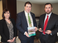 Mayor of Kerry, Cllr. Niall Kelleher, with Paul Veale, Senior Vice President, IDA Ireland, and Rebecca Skeffington, VP Emerging Business, at the IDA Office in Chicago on Thursday, March 12th.