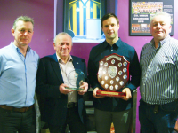 Hall of Fame Recipient – Dan Brassil receiving his Hall of Fame award with his son Ger, along with Tom O'Connell and Tony Maunsell