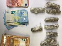 The cash an suspected drugs seized by Tralee gardaí on Saturday.
