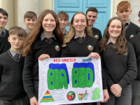 Gaelcholáiste Chiarraí students who reached the ECO-UNESCO final with their Bia Beo project.