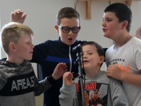 Summer 2019- Young people in Tralee enjoying last year's Imagination Tower Workshops with Kerry LCYP. Photo M Di Grande.