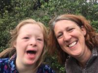 Rachel Fitzgerald with her daughter Peppy.