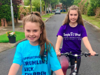 Megan and Katie Walsh helping to launch the Tour De County fundraising campaign in support of CMRF Crumlin and Temple Street Foundation.