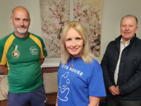 Michelle Greaney of MG Coaching with Martin O'Sullivan and Con O'Connor of Pieta House launching the challenge in memory of Conor Cusack.