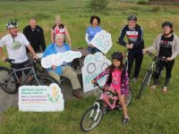 Launching the 'Let's Get Kerry Cycling' campaign were in front Tara Silva, seated Paudie Fitzgerald, at back Brian Neenan, John Murray and Avril Hewitt of the Chain Gang Cycling Club, Cora Carrig Dave Elton and Kay Neenan of the Chain Gang. Photo by Dermot Crean