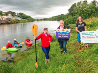 Pictured at the launch of Women on the Water in Killorglin are (from left): Mary McGrath, Kerry Canoe Club, Killorglin, Jimmy Deenihan, Kerry Recreation & Sports Partnership and Colette Lawlor, Canoeing Ireland with members of the Canoe Club. Pic: Pauline Dennigan