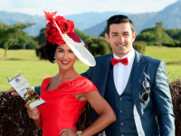 Denise Healy and husband Aidan O'Mahony who are judges in the Dawn Milk Ladies Day Best Dressed competitions.