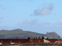 The new Wild Atlantic Way Viewing point at the clifftop site of the OPW run Ionad an Bhlascaoid (Blasket Centre) in Dún Chaoin in the West Kerry Gaeltacht. Photo: Valerie O'Sullivan