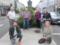 Members of Tralee Tidy Towns, back from left, Tim Guiheen, Joe Moynihan, Mary Dolan and Anne Marie Fuller with (in front) Anluan Dunne and Gillian Wharton, encouraging people to take part in the Tralee Tidy Towns Survey. Photo by Dermot Crean
