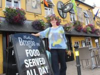 Fiona Kirby outside a Tralee institution.