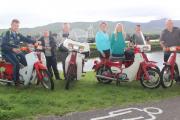 Launching the West Kerry Honda 50 and Classic Bike Run charity event were, from left; Sean Kerins, John O'Regan, Dr Tom McCormack, Maura Sullivan, Elfa Asarina, Jason Clifford and Donal O'Regan. Photo by Dermot Crean