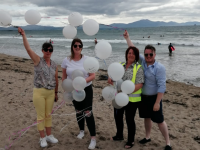 The Memory Balloon Walk on Ballyheigue Beach last weekend was a huge success.