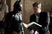 Christopher Nolan on set with Christian Bale as Batman.