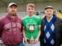 Damien Slattery with his dad David and grandfather Mike.