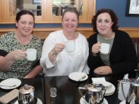 Paula SIlles, Caroline Healy and Rebecca Roche at the coffee morning in aid of Kerry Hospice at Ballygarry House Hotel on Thursday. Photo by Dermot Crean