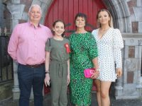 Isabelle Locke Clifford, with Anthony Clifford, Liz Locke and Heather O'Rourke at her Confirmation at St John's Church on Sunday. Photo by Dermot Crean