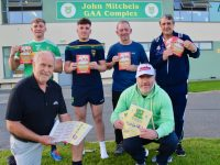 Looking forward to the John Mitchels Drive-In Bingo event this Sunday were, in front; Denis Mannix and Clive O'Callaghan. Back from left; Michael Walsh, Wayne Duggan, George Lowe and Rory Kilgallen. Photo by Dermot Crean
