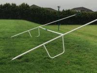 Goalposts knocked over at the Kerins O'Rahillys pitches in Ballyrickard. Photo: Kerins O'Rahillys Facebook