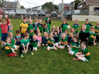 Na Gaeil U6's enjoying a training session in Killeen recently.