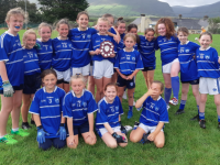 Kerins O'Rahillys U12 victorious Girls who are North Kerry Shield winners divisional 3.