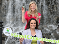 Nuala Carey and Grainne Seoige launching the National Lottery Good Causes Awards.