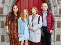 Former Blennerville Primary NS pupil Kayla O'Connor, with Niamh, Liz and Tom O'Connor, on her Confirmation Day at St John's Church on Saturday. Photo by Dermot Crean