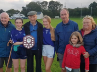 Kerins O' Rahilly's Club President Micheál Kerins who passed away last week pictured here with three of his granddaughters , two of his sons Rory and Haulie and daughter Tara.
