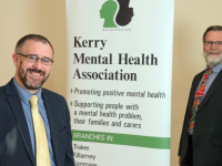 John Drummey with Pat O'Brien of the Kerry Mental Health Association.