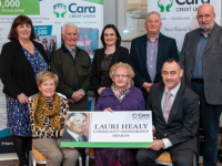 Front Row: Marie Healy (wife of the late Lauri Healy), Mary O' Brien ( Friend of Lauri Healy) , Pa Laide, CEO of Cara Credit Union   Back Row: Helen Geary, Tom Lawlor, Suzanne Ennis, Sean Roche, Richard Bono all Cara Credit Union