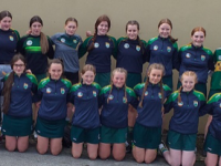 Kerry U16 Camogie Squad, with Tralee Parnells players Alice O'Connell & Grainne Leahy, that played Limerick in the Munster U16C Camogie Final